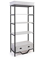 French country etagere shelving  features four MDF shelves