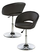 Black PU leather salon and spa chairs