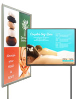 Poster light boxes for spas and salons