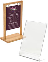 Small countertop sign holders for spas and salons