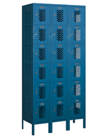 "6 Tier Sports Locker with 15"" Deep Compartments"