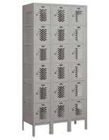 Fully Assembled 6 Tier Vented Locker