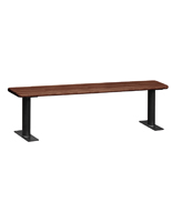 Wood Locker Room Bench with Rounded Corners