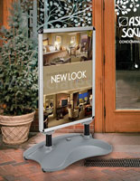 This sandwich board is offered in many sizes and designs.