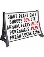 Restaurant Sandwich Board Signs with Marquee Letter Style