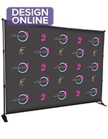 8x10 Event step and repeat backdrop with fully cIM体育tomizable graphic