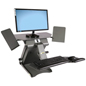 "All-In-One Standing Workstation, 30"" x 14"" Tabletop"