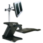 Height Adjustable Dual Monitor Standing Desk