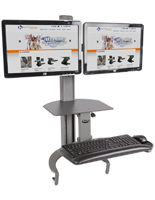"Sit Stand Desk Mount, 26"" Max  Monitor Size"