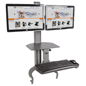 "Sit Stand Desk Mount, 19"" x 11"" Tabletop"