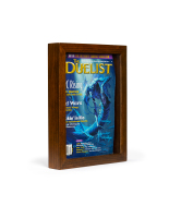 8.5 x 11-inch magazine cover frame with dark wood finish