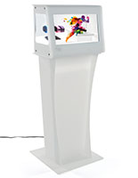Clear LCD Display with Pedestal