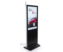 "43"" Digital Advertising Floor Stand Display for Donor Lists"