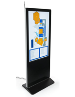 "55"" Digital Display Advertising Floor Stand with 450-Nit Brightness"