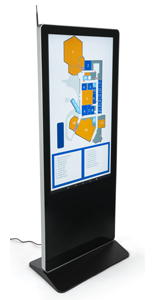 "55"" Digital Display Advertising Floor Stand with Full HD 1080p Resolution"