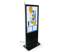 "55"" Digital Display Advertising Floor Stand for Commercial Use"