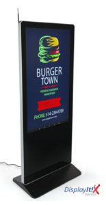"55"" Digital Display Advertising System Includes Widgets"