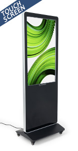 "43"" multimedia advertising kiosk with 1080p resolution"