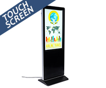 "43"" multimedia advertising kiosk for portrait orientation file display"