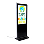 "43"" multimedia advertising kiosk with 16:9 aspect ratio"