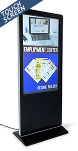 "55"" advertising multimedia kiosk with 8gb internal memory"