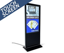 "55"" advertising multimedia kiosk with 1 year warranty"