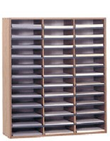 36 Section Literature Organizer For Tabletop Or Floor, For 8.5 X 11  Magazines   Oak