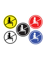 Brightly Colored do not use seating sticker