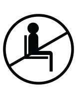 White do not use seating sticker with pre-printed graphic for crowd control