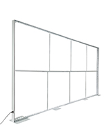 Silicone edge graphic backdrop frame 20ft wide by 10ft tall