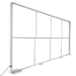 Silicone edge graphic backdrop frame fits 20ft trade show booth