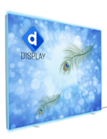 2-Sided SEG fabric backlit wall with dye sublimation printed graphics