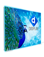 8x10 customized single sided graphics on SEG stretch fabric lightbox wall