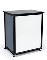 Portable pop-up SEG LED counter frame with lights and storage