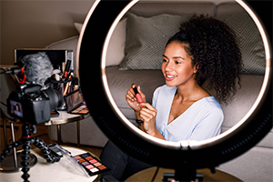 Tablet Ring Light Stations for Cosmetology