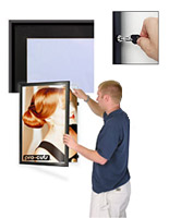 locking poster display