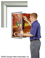 silver poster holder