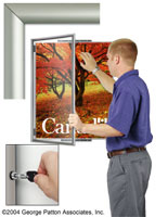 locking poster holder