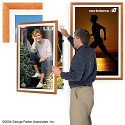wood wall picture frame 24 x 36 slim wood swingframe