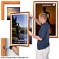 "24"" x 36"" wood movie print display"