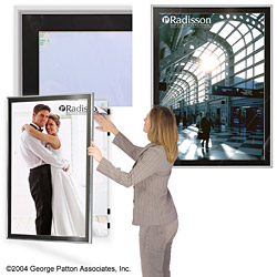 """silver poster hangers - 30"""" x 40"""" classic swinging w/ black matboard, Powerpoint templates"""