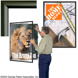 "large poster frame - 30"" x 40"" satin black wide face aluminum, Powerpoint templates"