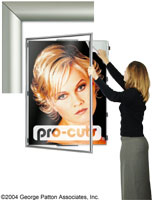 Hinged Poster Swing Frames Large 30 X 40 Sizes