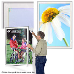 metal swinging poster frames