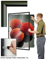 36 X 48 Swing Poster Frames Wide Profile Enclosed Cases