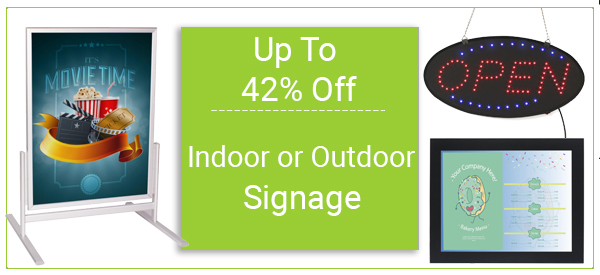 indoor and outdoor sigange on sale