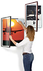 Swinging large format poster frames protect graphics or signage!
