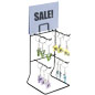 Black Keychain Display Rack for Retail Environments