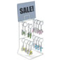 White Keychain Display Rack for Retail Locations