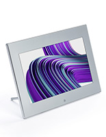 Digital signage countertop display with slideshow application and 4 port USB hub
